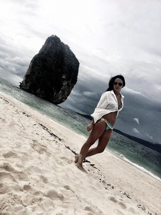 Veronika Nová na dovolené v Thajsku.