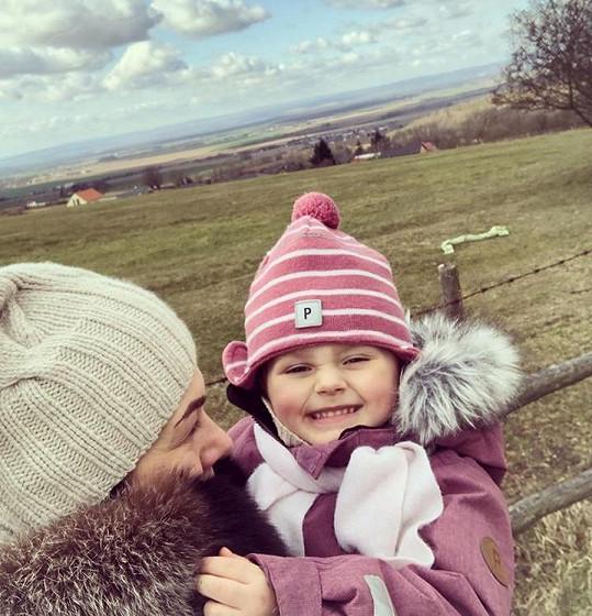 Jana se svou malou dcerkou