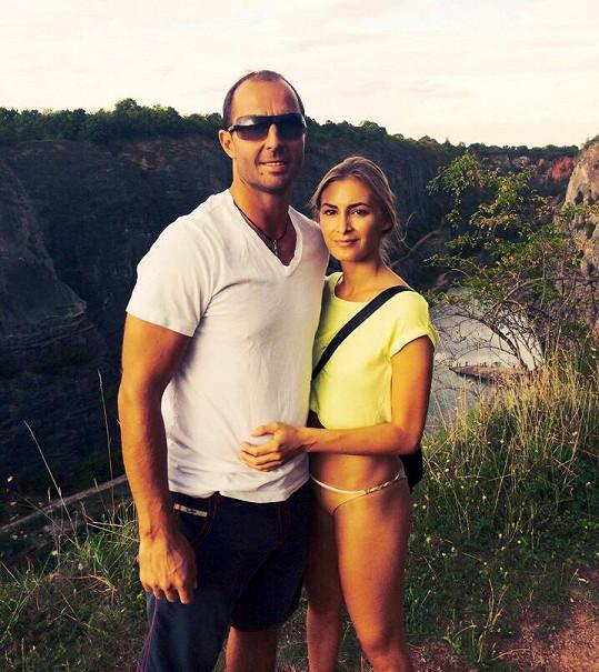 Martin Ručinský s přítelkyní Adélou