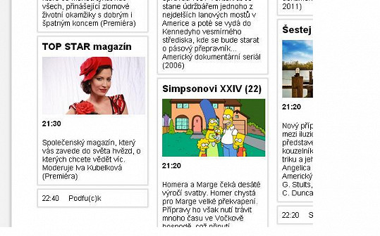 Na internetových stránkách televize mají pořádný zmatek v programu.
