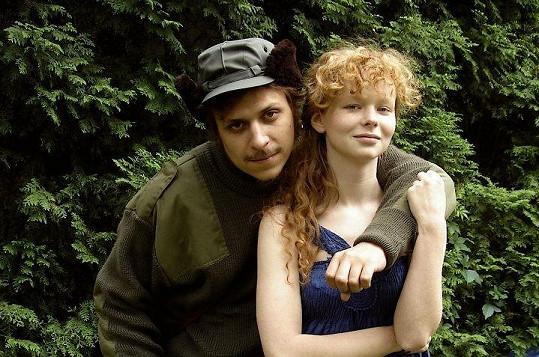 S filmovým partnerem Tomášem Vorlem mladším.