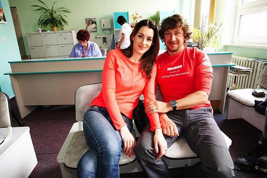 Misska Lucie Křížková darovala krev s manželem Davidem.