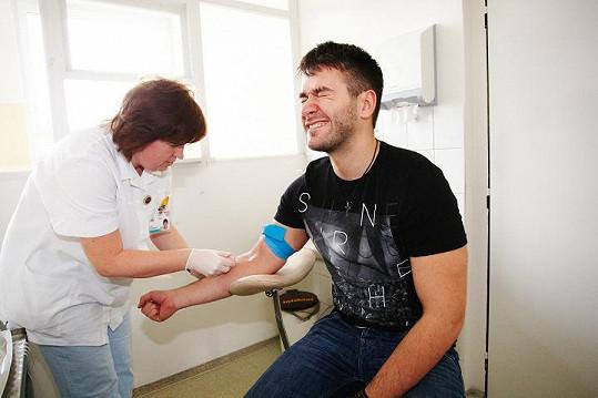 Marek Ztracený chtěl darovat krev.