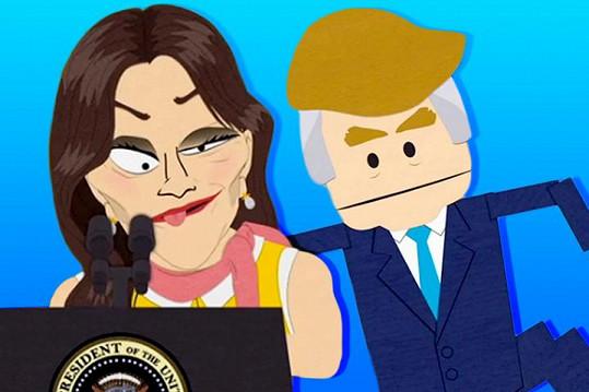 Animovaná Caitlyn s Donaldem Trumpem