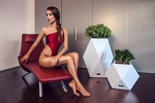 Díky svému chirurgicky vylepšenému poprsí fotí modelka nejčastěji v prádle a plavkách.