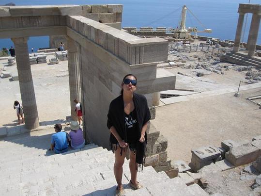 Marta trávila dovolenou na ostrově Rhodos.