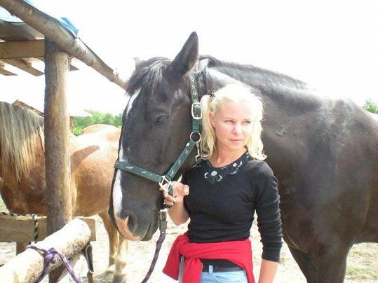 Olga milovala přírodu a koně.