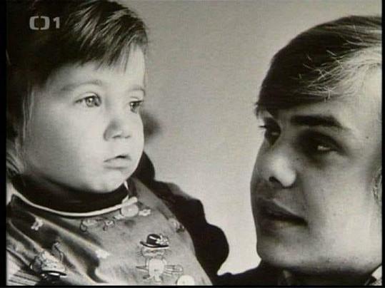 Andrea s tatínkem jako malá