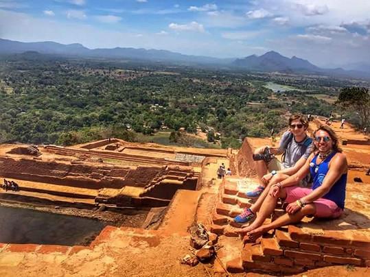 Největším zážitkem byl bosoběh na legendární skalní královský komplex Sigiriya.
