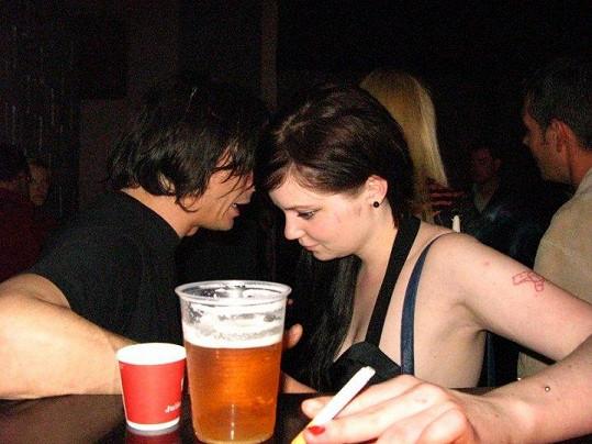 David s Annou na pivu.