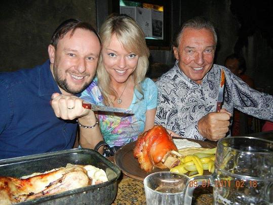 S tátou a Martinem Lehečkou.