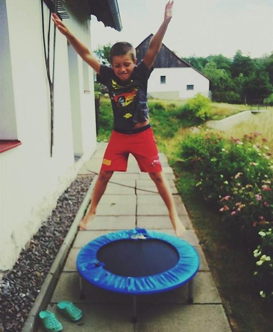 Marek Ferenc ještě jako zdravý kluk.
