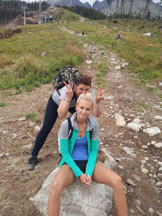 Tereza Fajksová s maminkou