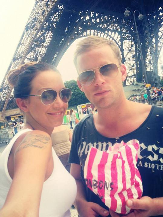 Agáta s Jakubem u Eiffelovky