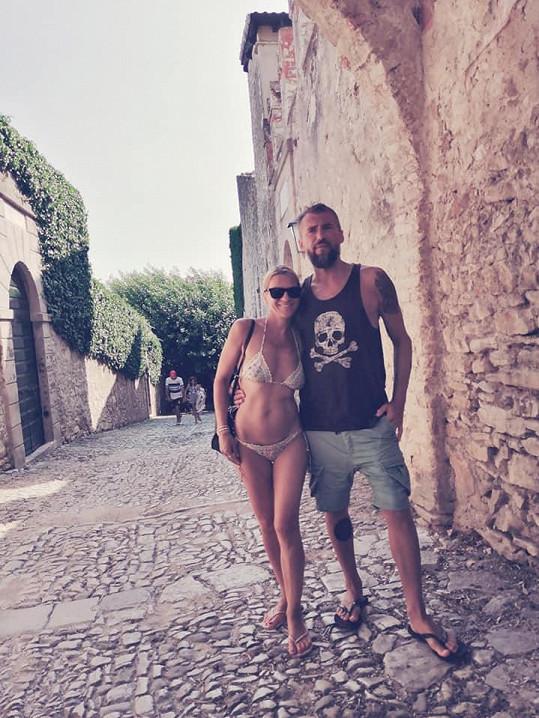 Bořek s přítelkyní Žanetou na dovolené v Itálii