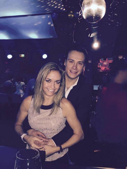 Klára Koukalová s Petrem Suchoněm tvoří nový pár.