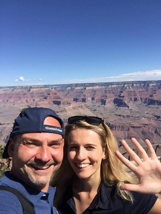 Míša s Filipem na předchozí dovolené v Americe