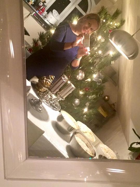 Monika Absolonová už je na Vánoce připravená.