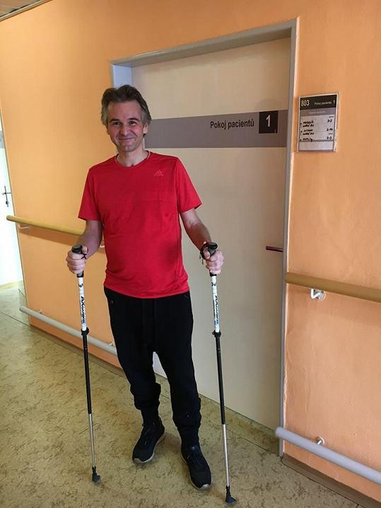 Martin Ditmar dlouho rehabilitoval.