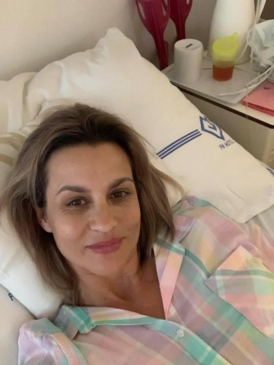Monika Marešová poslala pozdrav z nemocnice.