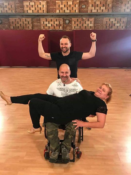 Pavla Tomicová s Markem Dědíkem a Petrem Pokorným
