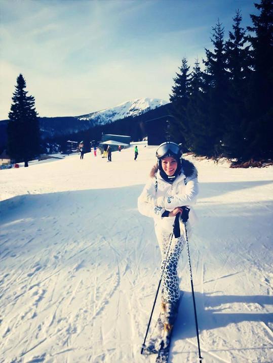 Andrea Verešová si užívala sluníčka a nového sněhu.
