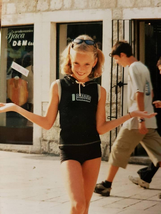 Gabriela Lašková jako malá holka