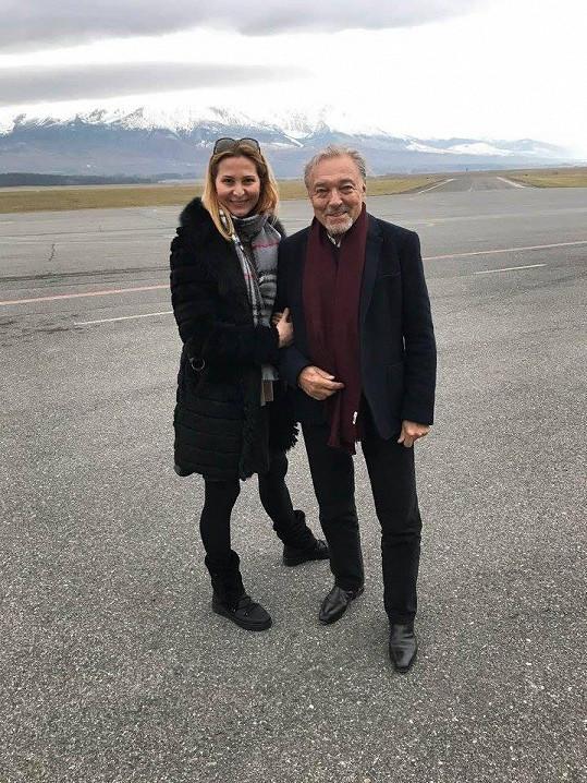 Karel Gott a Ivana Gottová vyrazili do Tater.
