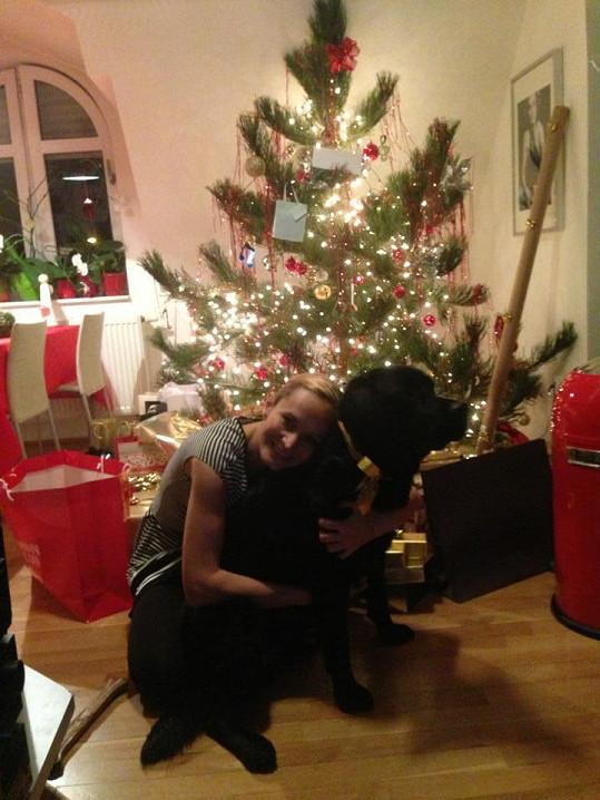 Monika Absolonová prožila krásné Vánoce.