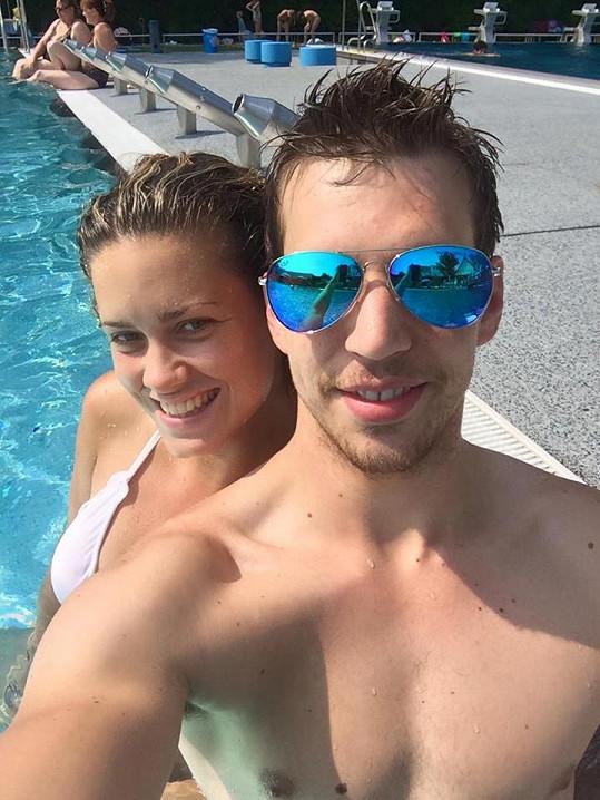 S přítelkyní Kateřinou Sedlákovou