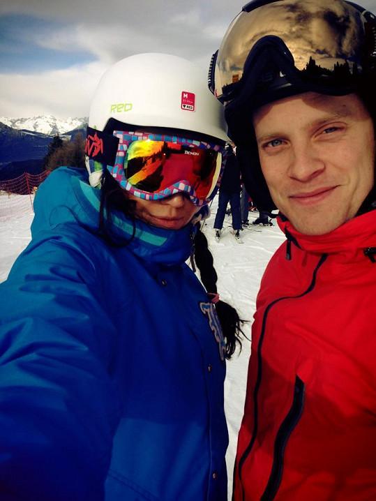 Agáta hory miluje. S Jakubem loni lyžovala v Alpách.