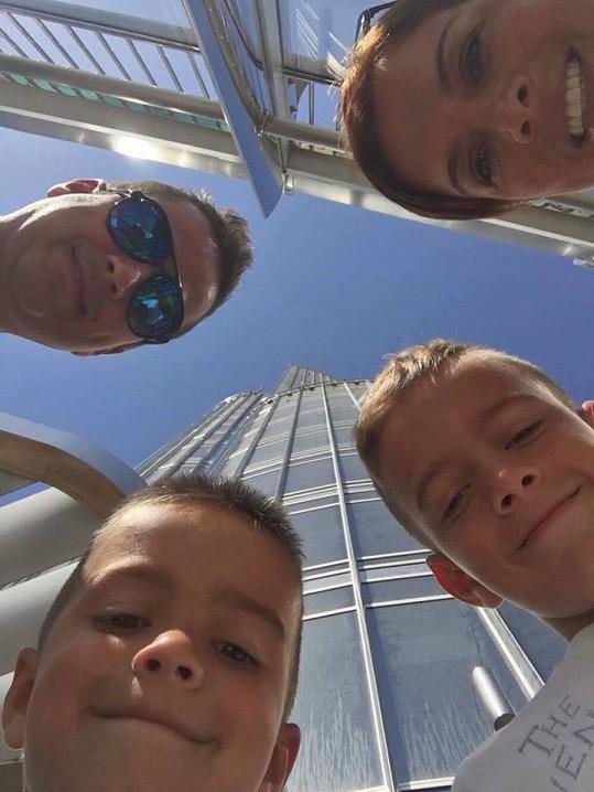 Společná rodinná selfie