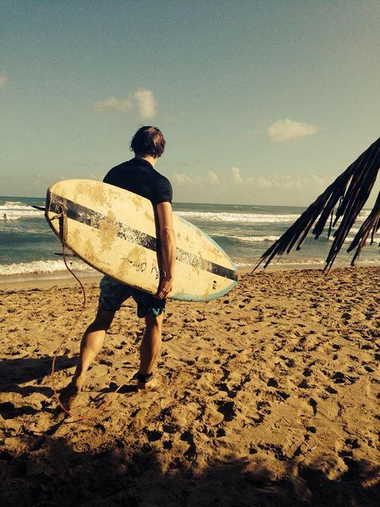 Zpěvák si s rodinkou užívá dovolenou v Dominikánské republice.