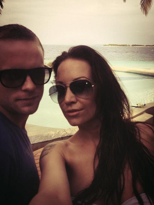 Na dovolenou jela i s dnes již manželem Jakubem Prachařem.
