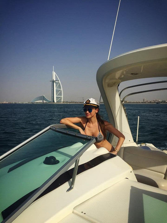 Andrea Verešová na dovolené v Dubaji