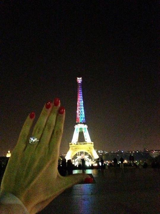 Tenhle krásný prsten Lukáš Míše navlékl v Paříži.