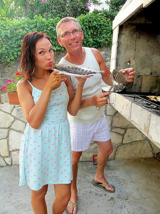 Kamila Nývltová si užívala dovolenou s rodiči a přítelem.