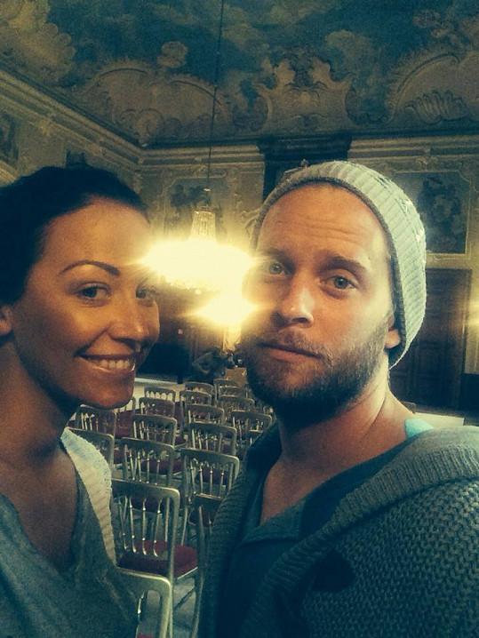 S manželem na zámku v Dobříši