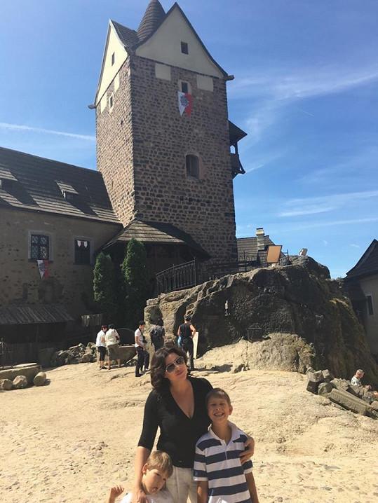 Navštívili i hrad Loket.