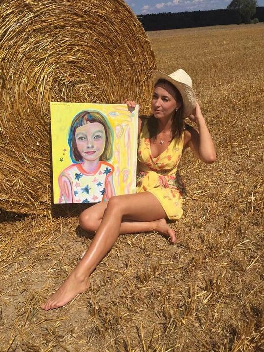 Lucie Gelemová je talentovanou malířkou.