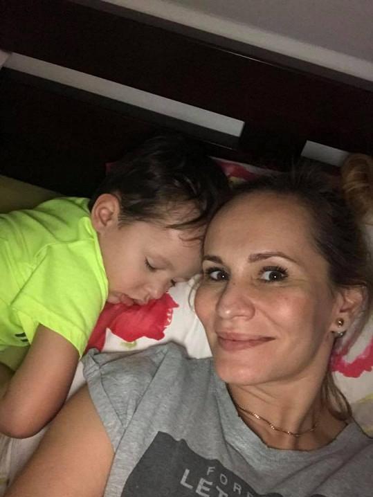 Monika se svým prvorozeným synem Tadeášem.