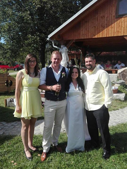 Focení se svatebčany