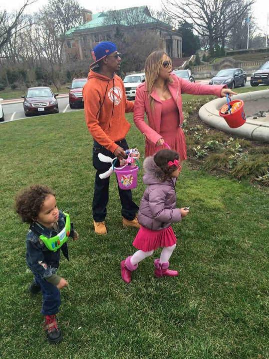 Mariah Carey s manželem a jejich dvojčátky