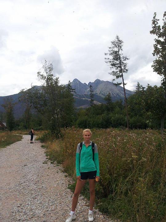 Tereza Fajksová vyrazila s rodinou na dovolenou na Slovensko.