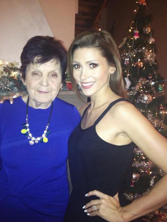 S milovanou babičkou.