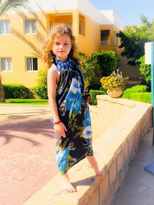Dcera Eliška na dovolené nemohla chybět.