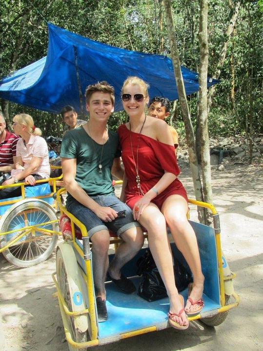 Jitka Nováčková vyrazila s Michalem i na výlet v rikše.