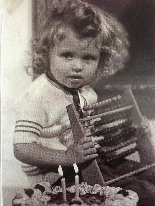Dana Morávková jako malá holčička