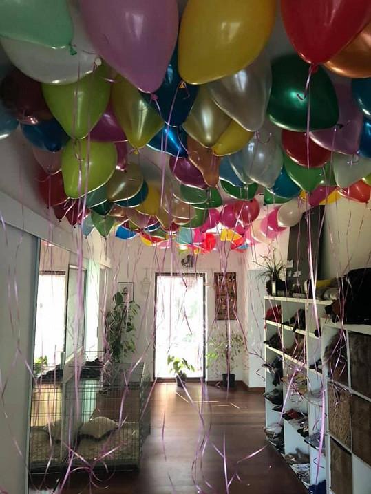 Balónky byly i vevnitř.
