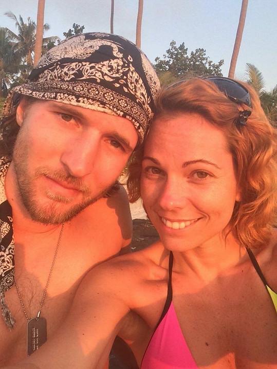 Míša s přítelem Ondřejem, když ještě byla dovolená zalitá sluncem.